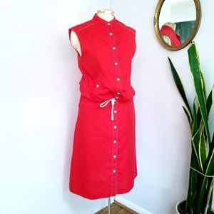 Vintage Donnkenny Suit Separates Red/White Sz 10